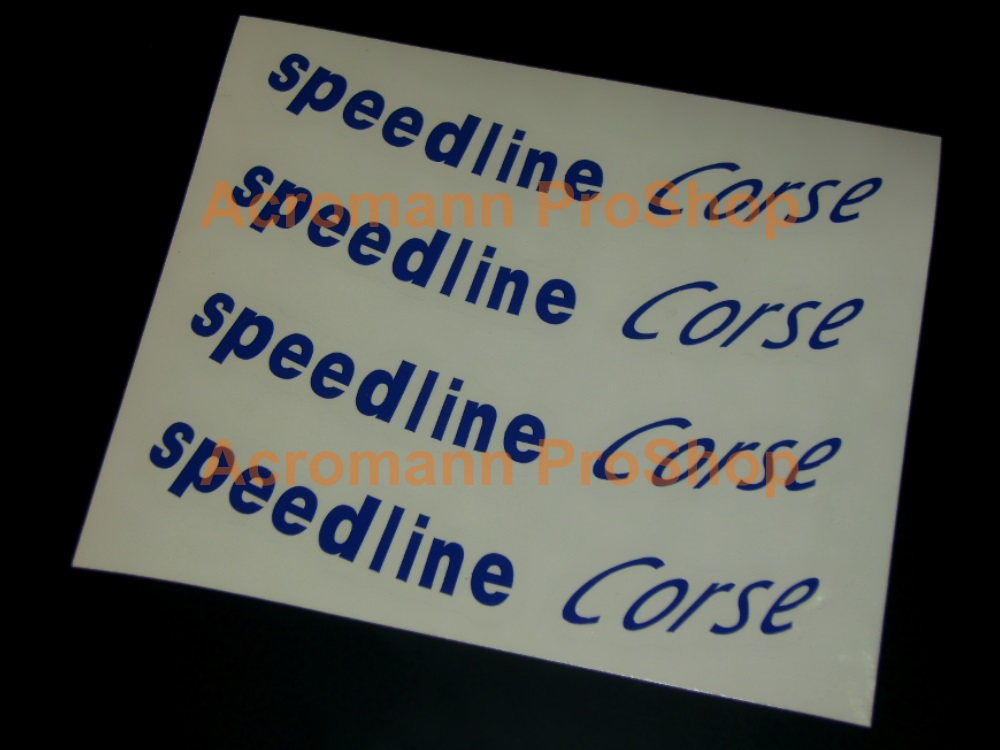 Speedline Corse 4inch curved Rally Alloy Wheels Decals Sticker#1